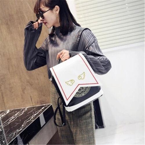 Cute Anime Card Captor Sakura Kinomoto Lolita Magic School Shoulder Backpack Bag