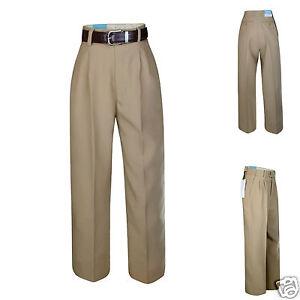 New Boy Child Kid Formal School Uniform Pants in Brown with belt size 8,10,12,14