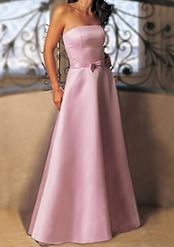 Rosa BRIDESMAIDS EVENING WEDDING PROM DRESS ALL Größe
