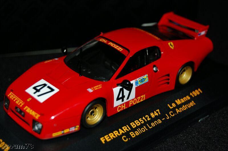 FERRARI  512 BB   47 POZZI - LE MANS 1980 - IXO LMC078