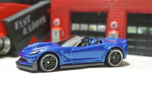 1:64 Corvette C7 Z06 Convertible Hot Wheels Loose Blue New for 2018