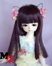 1/4 1/6 BJD SD MSD LUTS DOC LATI modelling purple-red color Lotita Long Hair Wig