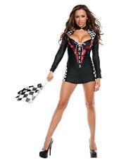 New RACE CAR Nascar Fancy Dress Sexy Women's Halloween Costume Cosplay S/M