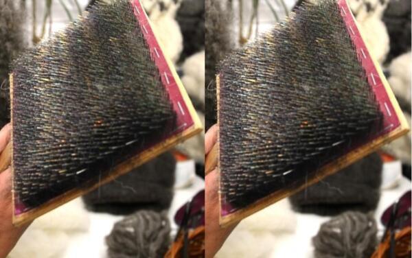 1 paire main Mèches en bois laine feutrage et filature à aviver laine Down Fluff