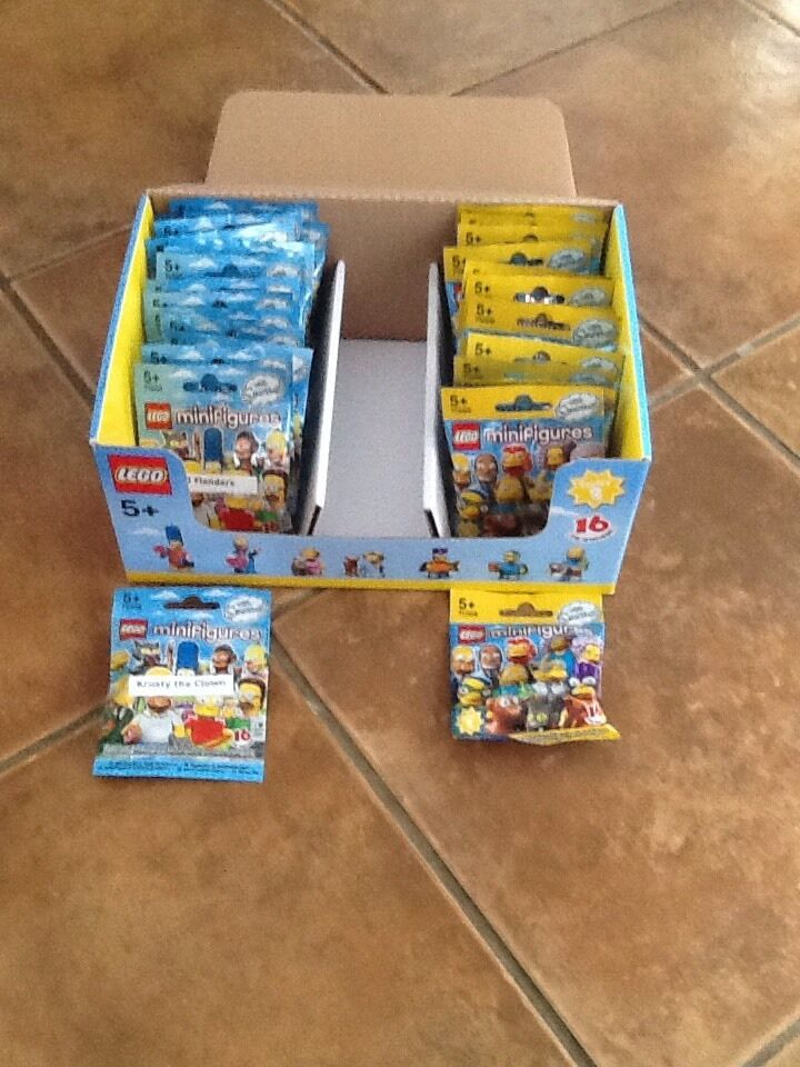 Lego Simpsons Series 1 And 2  Full Sets Still Sealed
