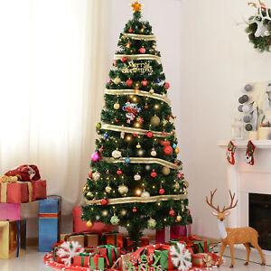 7ft Pre-Lit Fiber Optic Artificial Christmas Tree Led ...