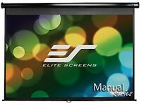 Elite Screens Manual, 150-inch 4:3, Pull Down Projection Manual Projector With