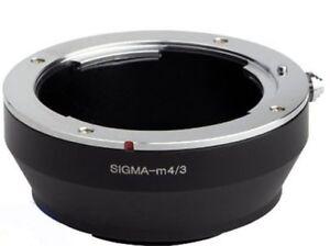 ADAPTER FOR SIGMA SA SD MICRO 4/3 ADAPTER RING M4/3 FOR OLYMPUS PANASONIC