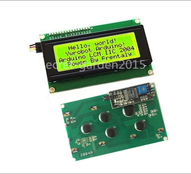 Yellow 2004 20X4  IIC I2C TWI  Character LCD Display Module For Arduino