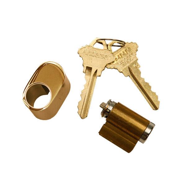 Andersen - Hinged Patio Door Keyed Lock Assembly - Bright Brass - 2579499