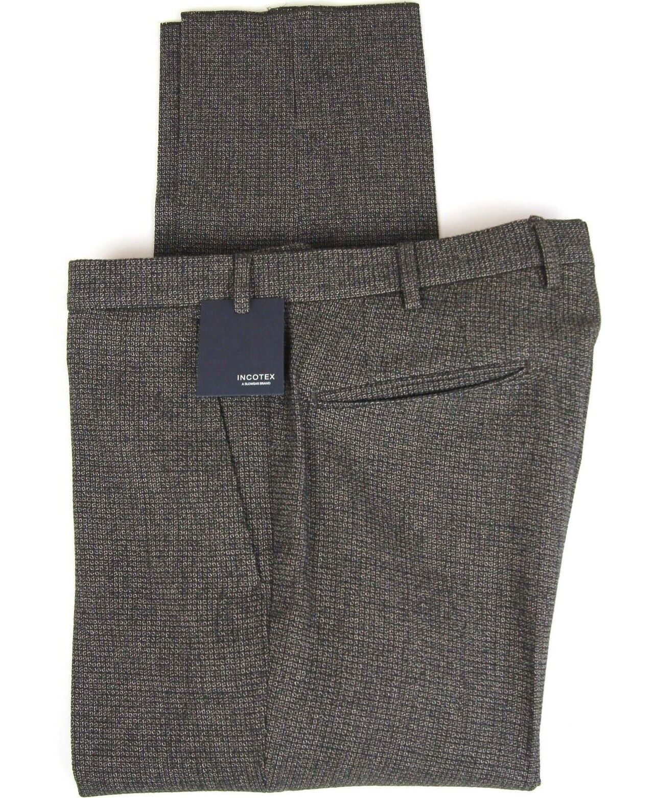 New Incotex Dress Pants Slim Fit Size 34 (50 EU) NWT