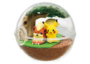 Re-ment-Pokemon-Terrarium-Pokeball-Collection-7-Figure-Pikachu-amp-Growlithe