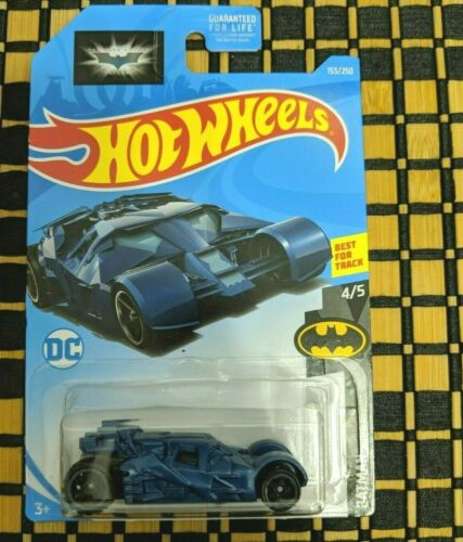 Blue Blue 2019 HOT WHEELS Batman Tumbler 4//5 Batman; 153//250