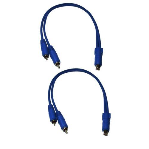Dietz cinchkabel y-Câble 2 pièce Bleu prise sur connecteur y-port de distribution