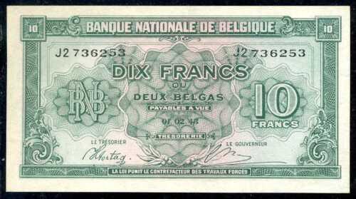 1943  10 FRANCS BELGIUM P 122