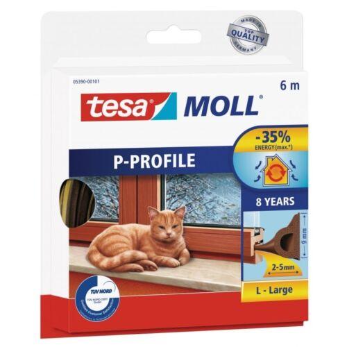 tesamoll® P-Profil Gummidichtung 6 m x 9 mm Braun 05390 NEU