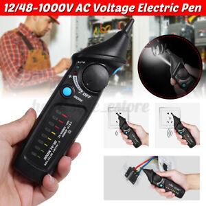 Non-Contact Voltage Tester Pencil Electric Pen AC Detector 12/48-1000V Detecto