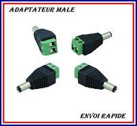 Dc Adaptateur Connecteur Male A Visser Pour Ruban Led Et Autres 5.5x2.1mm