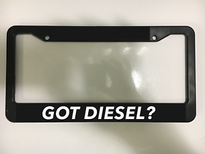 GOT DIESEL POWER TURBO 4X4 TRUCK RAM CHEVY FORD Black License Plate Frame NEW