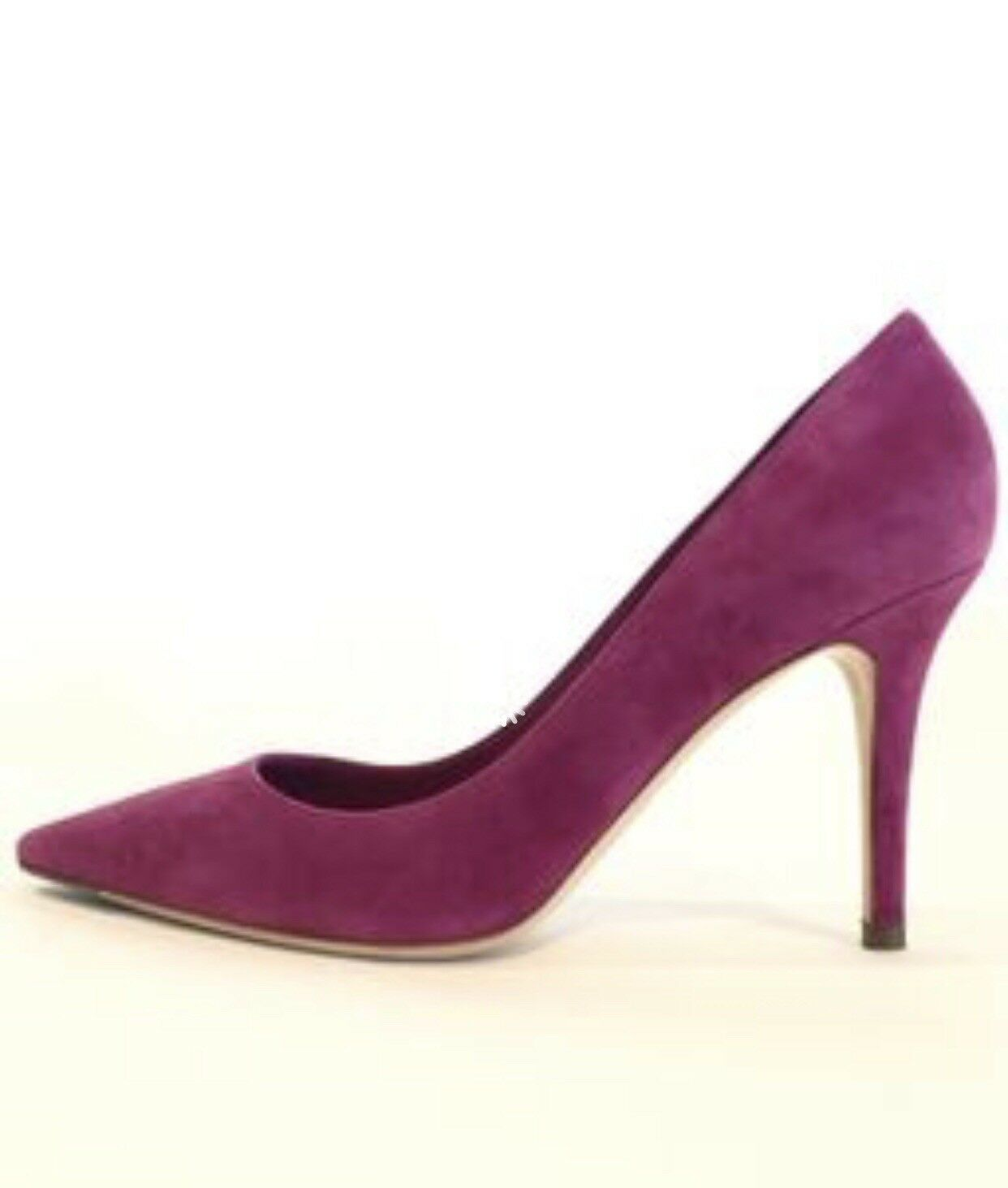 NEW In Box Ralph Lauren Collection Elsina Dark Dark Dark Pink Fuchsia Suede Heels Sz 10 0fd4be