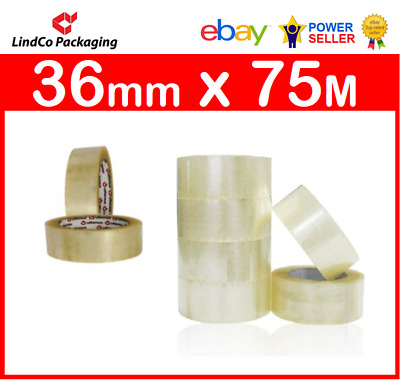 72 x Rolls Vibac PP30 Stylus Clear Packaging Tape 25mm x 75m Premium Quality