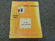 International Harvester IH S9B Pay Logger Skidder Parts Catalog Manual Book