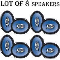 Lot Of (8) Pyle Pl683bl Pair Of 6'' X 8'' 360 Watt 3-way Car Speakers on sale