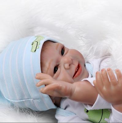 22 Pollici 55cm Real Dall'aspetto Realistico Rinato Baby Doll Bambola Vinile Morbido Silicone-mostra Il Titolo Originale Delizioso Nel Gusto