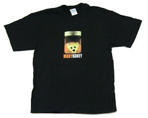 MOBY-Miele-Black-T-Shirt-Grande-Nuovo-Ufficiale-VINTAGE-NOS-Merch