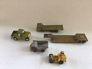 Vintage-MatchBox-Super-Kings-Low-Loader-DAF-Truck-Majorette-Dump-Truck-Hot-Wheel