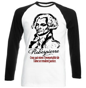 Robespierre Justice Activewear Men's Clothing Cotton Black Sleeved Baseball Tshirt FöRderung Der Produktion Von KöRperflüSsigkeit Und Speichel