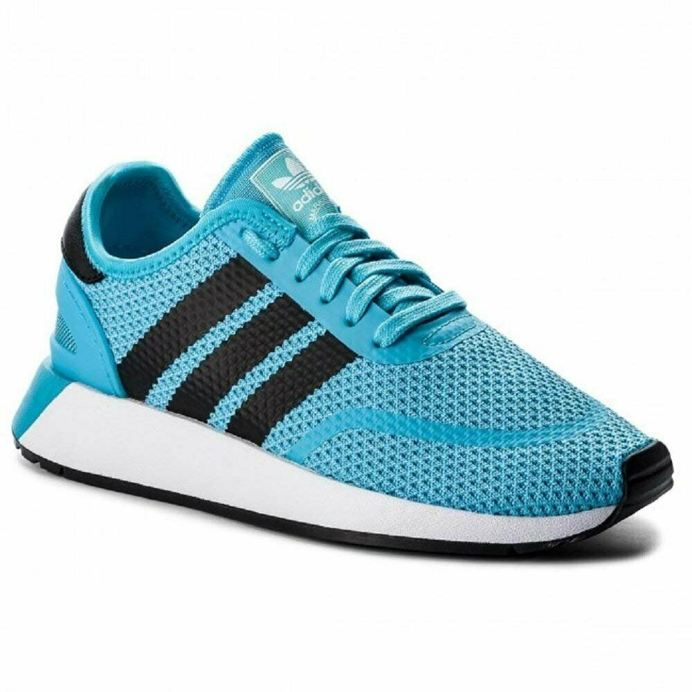 Adidas Originals Men's N-5923 Sneaker, Bright Cyan Black White, 8 M US
