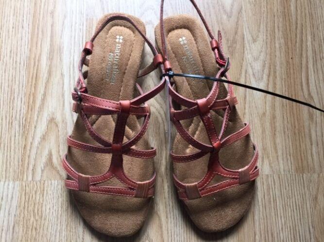 Naturalizer N5 Comfort Roman Gladiator Sandals Size 4 Coral