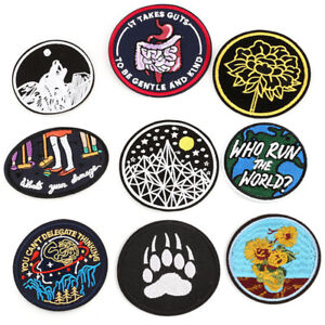 Iron-On-Sew-On-Patches-Badge-Bag-Fabric-Applique-Craft-Embroidered-Decor-DIY-LY