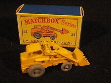 Vintage Matchbox #24 Hydraulic Excavator MIB Gray Plastic Wheels
