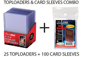 ULTRA-PRO-TOP-LOADERS-AND-CARD-SLEEVES-COMBO-100-CARDS-SLEEVES-AND-25-TOPLOADERS