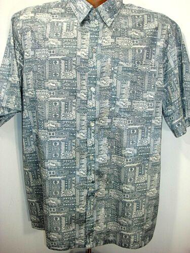 Thai silk mens shirt medium size shirt chest 46 floral print shirt