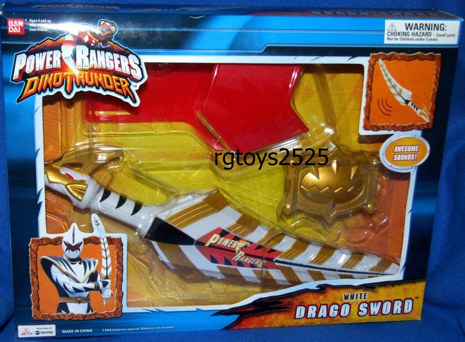 Power Rangers Dino Thunder Electronic sound Weiß Drago Sword Sword Sword New Factory Seal b1be8b