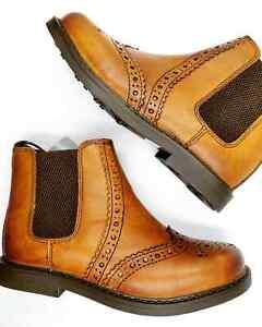 Boys Tan Chelsea Boots Dealer Brogues
