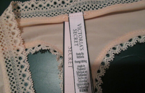 New w//Tag Victoria/'s Secret Body by Victoria Thong Size XS S M L Silky /& Lace