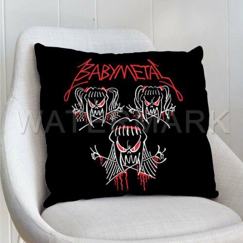 "BabyMetal Custom Pillows Car Sofa Bed Decor Cushion Pillow 16/""x16/"""
