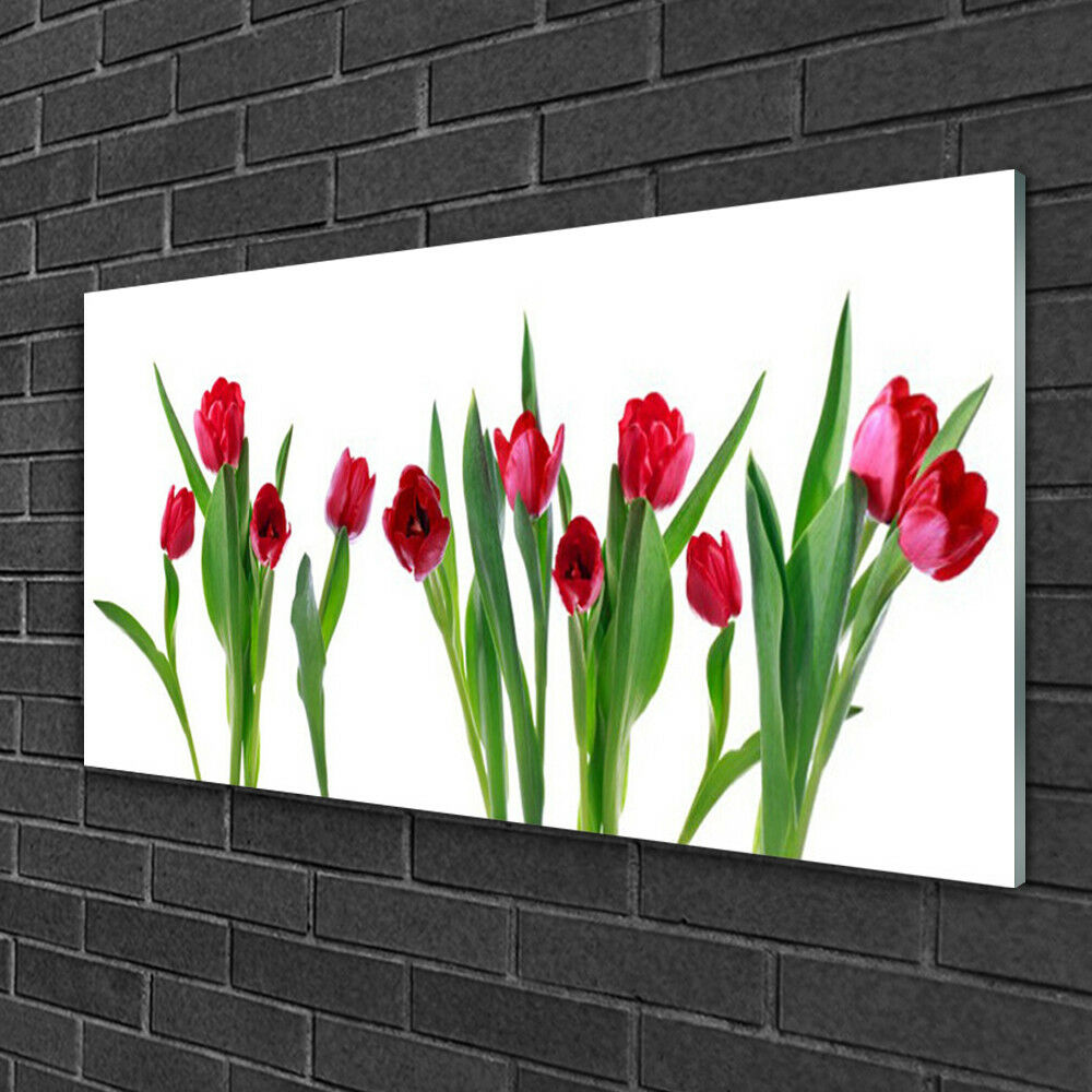 Print on Glass Wall art 100x50 Picture Picture Picture Image Tulips Floral 79c4a7