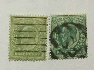 1902-GB-Great-Britain-UK-KEVII-2-Old-Stamp