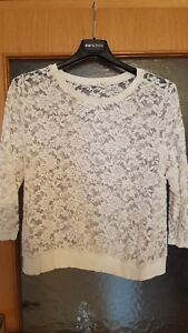0b2477444dd21 H M H&M Pullover Spitze Weiss Offwhite L XL Neu Sexy Oberteil Bluse ...