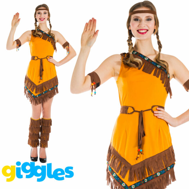 Girls Native American Fancy Dress Costume Cherokee Indian Western Eagle Cowboys