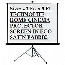 7 Ft. x 5 Ft. TRIPOD TECHNOLITE BRAND PROJECTOR SCREEN IN HIGH GAIN FABRIC, USA