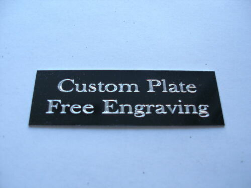 """Engraved Plate trophy Taxidermy 1//2/""""x3/"""" black aluminum"""