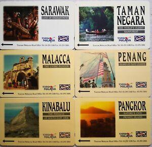 Malaysia-Used-Phone-Cards-6-pcs-Tourism-Malaysia