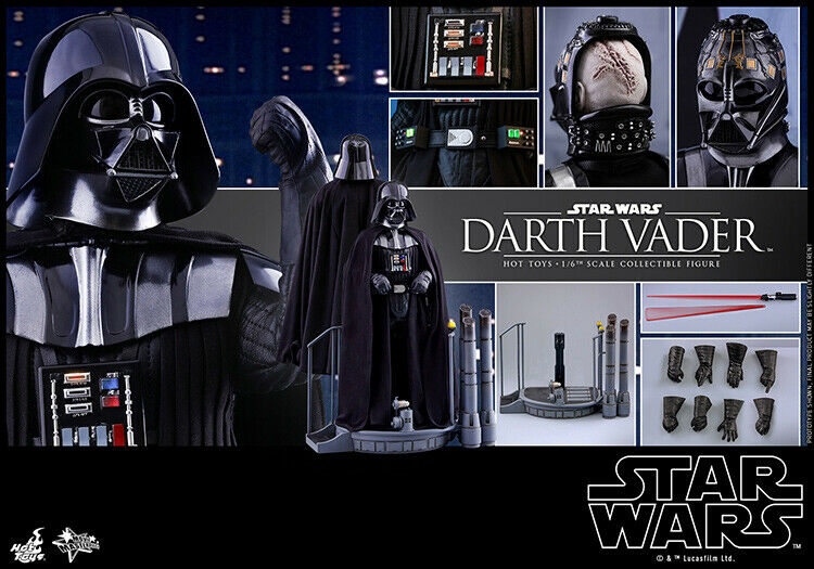HotJuguetes HT alrojoedor de Darth Vader Estrella Wars Caballero Negro Modelo 1 6 Sin Caja En Stock