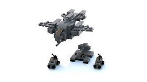 lego halo pelican dropship warthog scorpion tank mini model